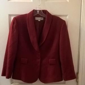 Tahari Arthur Levine Cardinal Red Blazer 8P